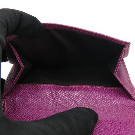 Tod's(토즈) 은장 로고 장식 퍼플 래더 반지갑