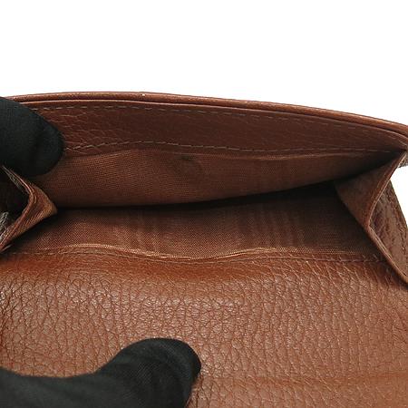 Celine(셀린느) 스터드 장식 데님 로고 패턴 브라운 래더 여성용 반지갑 [강남본점] 이미지4 - 고이비토 중고명품