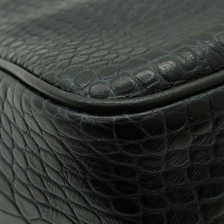 Long Champ(롱샴) 2686158 블랙 래더 크로커다일 패턴 로조 토트백