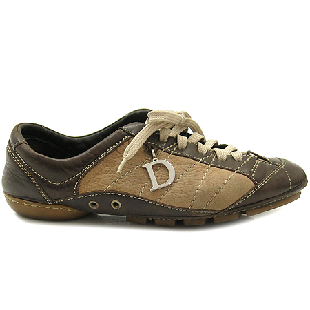Dior(크리스챤디올) 브라운 레더 와이드 스티치 스니커즈