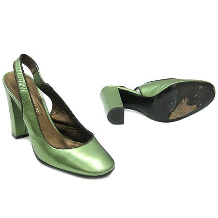 Loewe(로에베) 그린 메탈릭 슬링백 스타일 여성용 구두 [인천점] 이미지2 - 고이비토 중고명품