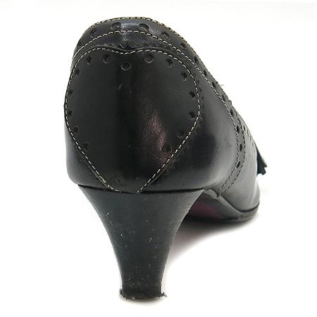 Etro(에트로) 블랙 래더 솔 리본 장식 여성용 구두