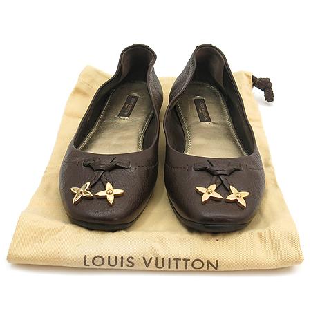 Louis Vuitton(루이비통) 금장 모노그램 장식 여성용 펌프스 플랫 슈즈