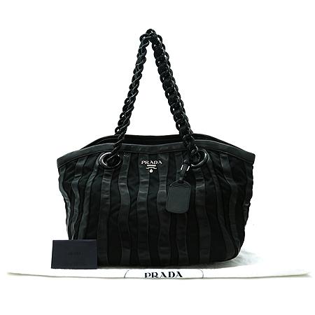 Prada(프라다) BR3998 블랙 나파 고프레 체인 숄더백 이미지2 - 고이비토 중고명품