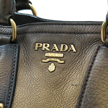 Prada(프라다) BN1346 금장 메탈릭 브론즈 레더 빈티지 2WAY