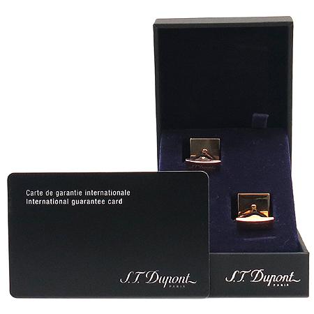 Dupont(듀퐁) 핑크골드 + 옐로우골드 도금 다이아몬드 헤드 커프스 버튼