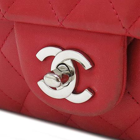 Chanel(샤넬) A35731 레드 램스킨 클래식 S사이즈 은장 체인 숄더백 [명동매장]