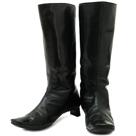Marc_Jacobs (마크제이콥스) 블랙 짚업 여성용 가죽 부츠 [강남본점]