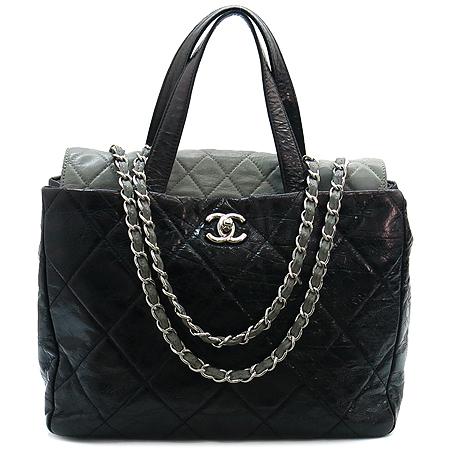 Chanel(샤넬) A47138Y06146 빈티지 블랙 퀼팅 포르투 벨로 은장 체인 2WAY [강남본점]