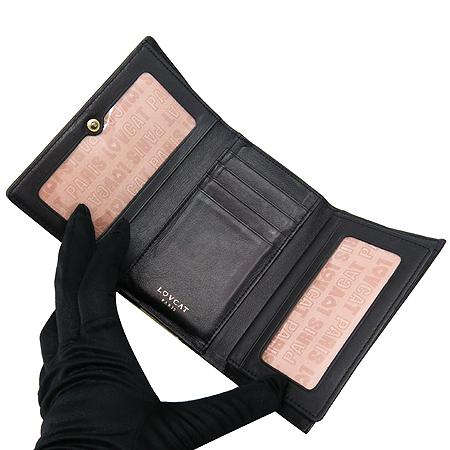 LOVCAT(러브캣) L8SKA 스와로브스키 장식 에나멜 중지갑