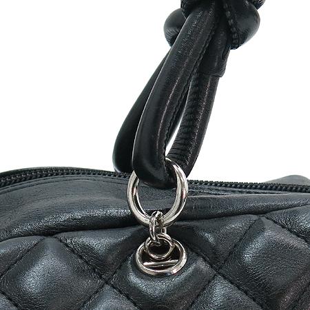 Chanel(샤넬) ) A50492 블랙 깜봉 화이트 COCO로고 스티치 볼링 숄더백