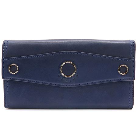 Celine(셀린느) 퍼플 레더 금장 써클 장식 장지갑