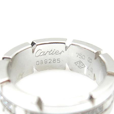 Cartier(까르띠에) B4060100 18K 화이트 골드 탱크 프랑세즈 다이아몬드 반지 - 9호 이미지3 - 고이비토 중고명품