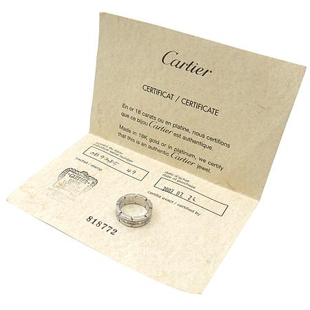 Cartier(까르띠에) B4060100 18K 화이트 골드 탱크 프랑세즈 다이아몬드 반지 - 9호 이미지4 - 고이비토 중고명품