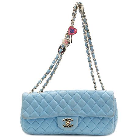 Chanel(샤넬) 리미티드 한정판 클래식라인 발렌타인 램스킨 은장체인 숄더백