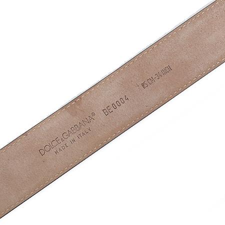 D&G(돌체&가바나) 버클 로고장식 그레이 래더 여성용 벨트 이미지5 - 고이비토 중고명품