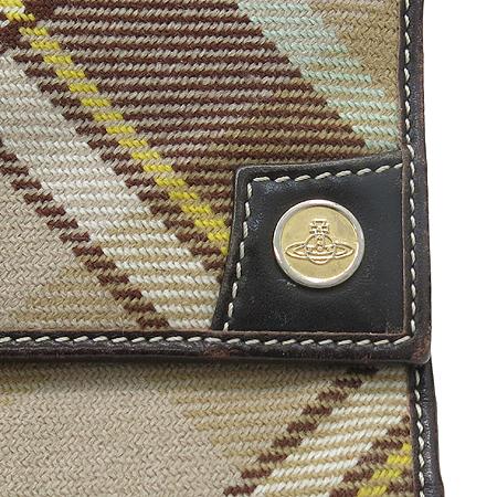 Vivienne_Westwood (비비안웨스트우드) 패브릭 더비 체크 반지갑