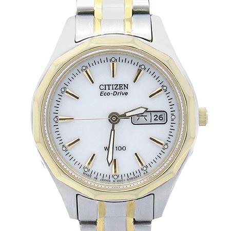 Citizen (시티즌) WR-100 ECO DRIVE 금장 콤비 여성용 시계