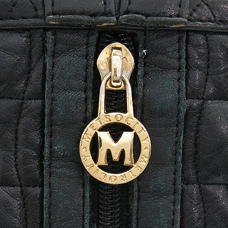 Metrocity(메트로시티) 로고 퀼팅 블랙 래더 백팩 이미지3 - 고이비토 중고명품