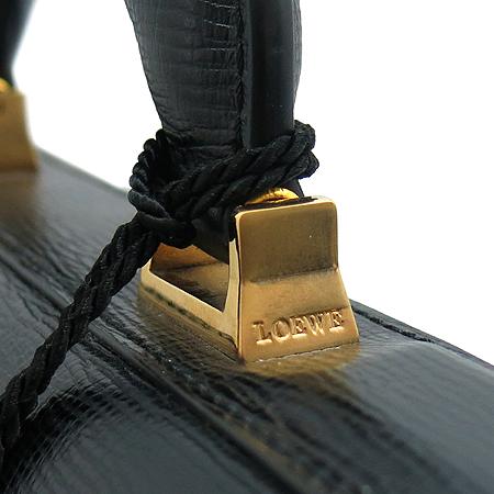 Loewe(로에베) 금장 버클 블랙 래더 남성용 브리프케이스 서류 토트백
