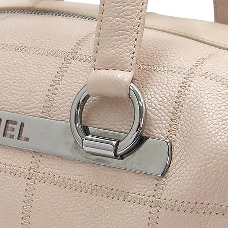 Chanel(샤넬) 은장 이니셜로고 캐비어스킨 마트라쎄 누빔 스티치 토트백 [부산센텀본점]