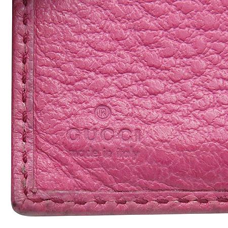 Gucci(구찌) 138038 뱀부 장식 핑크 레더 반지갑