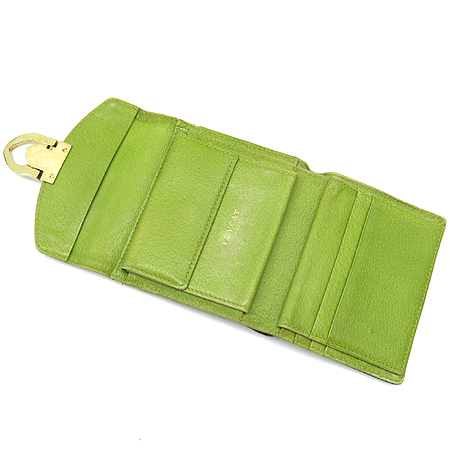 LOVCAT(러브캣) 금장 버클 투톤 래더 반지갑