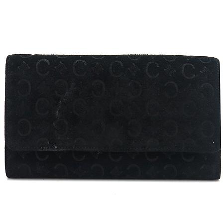 Celine(셀린느) 블랙 블라종 로고 스웨이드 장지갑
