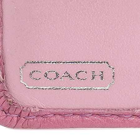Coach(코치) 은장 로고 레더 반지갑 이미지3 - 고이비토 중고명품