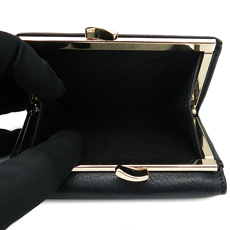 Vivienne_Westwood(비비안웨스트우드) 1311VW35 블랙 래더 금장 ORB 장식 반지갑