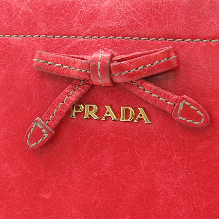 Prada(프라다) 1M0506 리본 장식 빈티지 짚업 장지갑 [강남본점] 이미지2 - 고이비토 중고명품