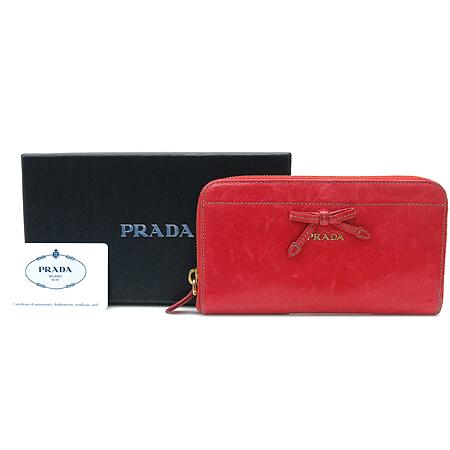 Prada(프라다) 1M0506 리본 장식 빈티지 짚업 장지갑 [강남본점] 이미지5 - 고이비토 중고명품
