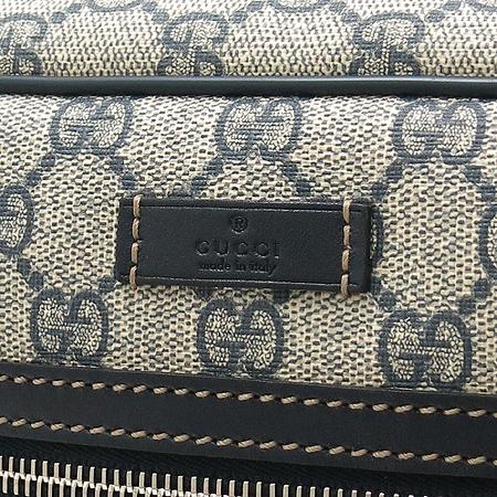 Gucci(구찌) 211107 PVC GG로고 네이비 레더 트리밍 크로스백 [미아현대점]
