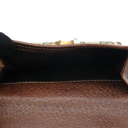 Gucci(구찌) 138035 GG 로고 자가드 뱀부 장식 중지갑