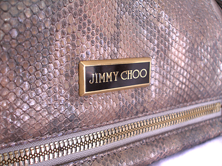 JIMMY CHOO(지미추) 금장로고 뱀피 레더 숄더백