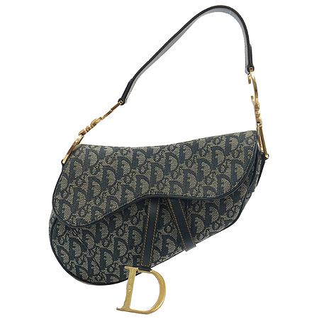 Dior(크리스챤디올) RU0032 데님 로고 새들 숄더백