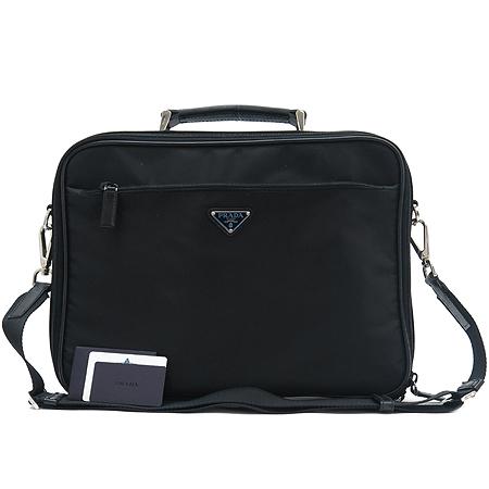 Prada(프라다) V147S 패브릭 노트북 겸 서류가방 토트백 + 숄더 스트랩