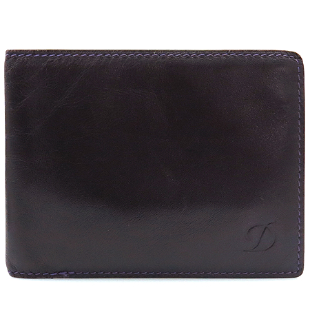 Dupont(듀퐁) 퍼플 래더 로고 남성용 반지갑
