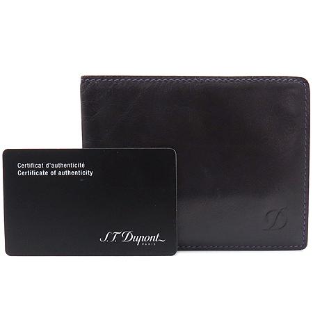 Dupont(듀퐁) 퍼플 래더 로고 남성용 반지갑 이미지2 - 고이비토 중고명품