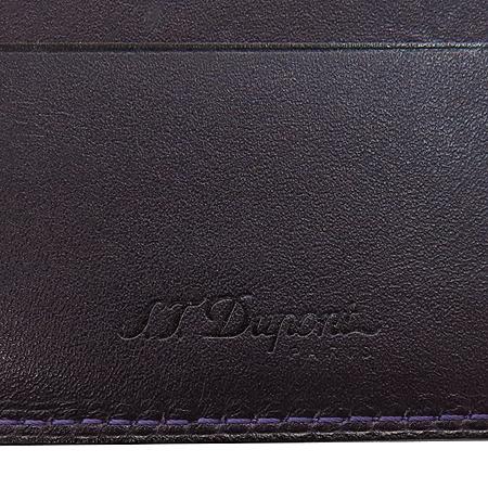 Dupont(듀퐁) 퍼플 래더 로고 남성용 반지갑 이미지4 - 고이비토 중고명품