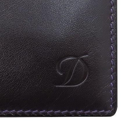 Dupont(듀퐁) 퍼플 래더 로고 남성용 반지갑 이미지5 - 고이비토 중고명품