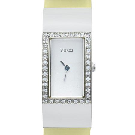 Guess(게스) 베젤 장식 러버 밴드 여성용 시계