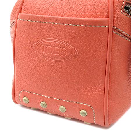 Tod's(토즈) 레더 스티치 투 지퍼 포켓 드라이빙 숄더백