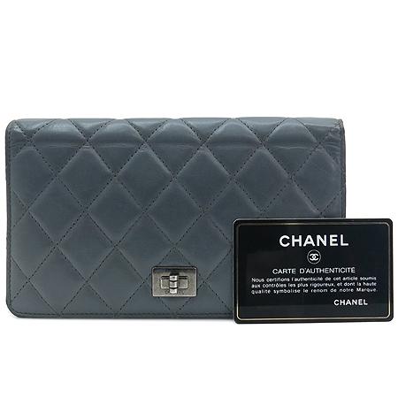 Chanel(샤넬) A35304 그레이 마트라쎄 2.55  장지갑