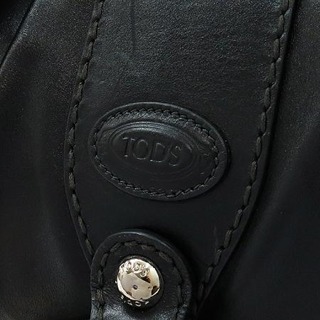Tod's(토즈) 로고 장식 블랙 레더 숄더백
