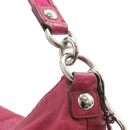 Coach(코치) 14561 POPPY(퍼피) 핑크 페이던트 레더 투 포켓 숄더백