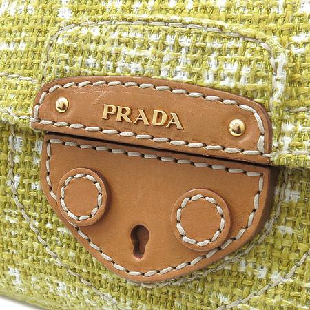 Prada(프라다) BR4658 트위드 패브릭 금장 체인 숄더백