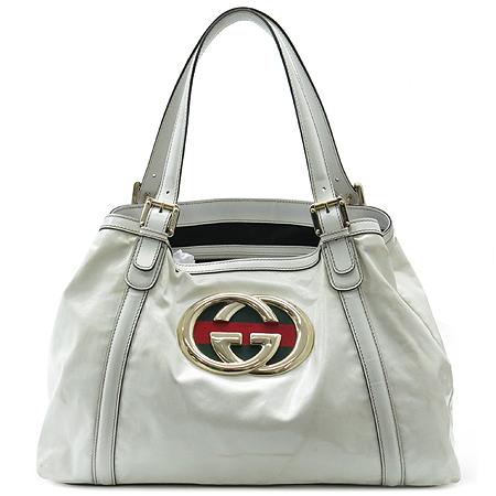 Gucci(구찌) 162094 GG 로고 삼색 스티치 장식 페이던트 바겟 숄더백