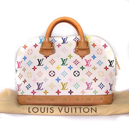 Louis Vuitton(루이비통) M92646 모노그램 멀티컬러 화이트 알마 토트백