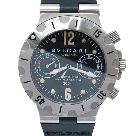 Bvlgari(불가리)  SC38SV 디아고노 아쿠아 스쿠버 남성용 크로노 시계